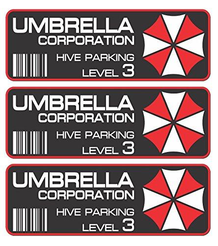 Umbrella Corporation Resident Evil Metal Car Sticker Badge