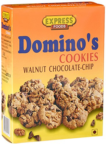 Express Foods Walnut Chocolate Chip dominos Cookies, 200g  available at amazon for Rs.131