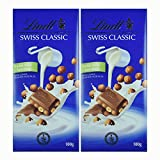 #9: Lindt Swiss Classic Chocolate Hazelnut SF 100G (Pack of 2)