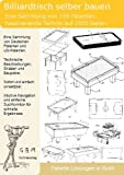 Billiardtisch selber bauen: 105 Patente zeigen wie!