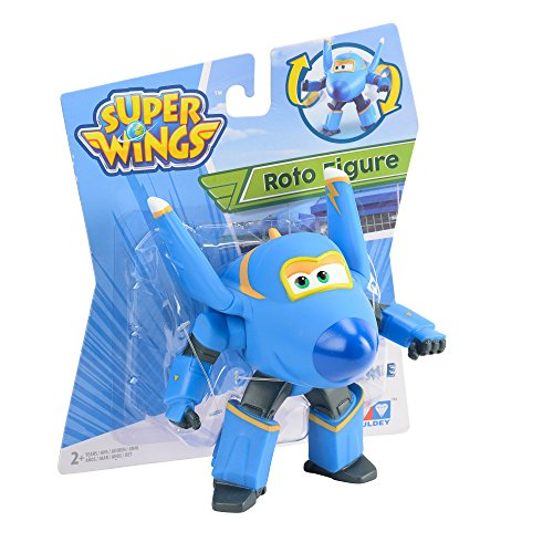Auldey yw710003Super Wings–Roto Figure Jerome articulado, 12cm