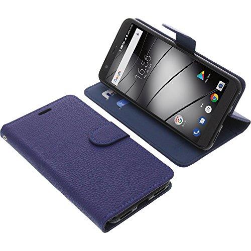 foto-kontor Tasche für Gigaset GS370 / GS370 Plus Book Style blau Schutz Hülle Buch