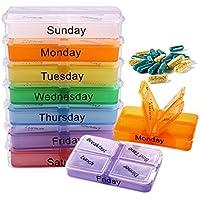 7 Tage Pillenetui Medizin Tablet Sorter Medikamentenbox Container Medizin Wöchentlich Pillendose Droge Fälle Splitter... preisvergleich bei billige-tabletten.eu