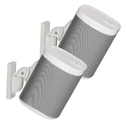 Sanus Paar verstellbare Lautsprecher Wandhalterung für Sonos Play: 1und Play: 3–weiß (Haus Lautsprecher-paar)