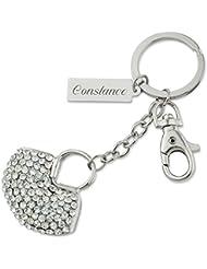 """Schlüsselanhänger Handtasche """"Shopping Queen"""" mit persönlicher Laser-Gravur und unzählige Kristalle"""