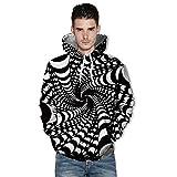 Spätestens Bekleidung Oberteile, Loveso Freizeit Sport Unisex Blumen Zebra Streifen 3D Druck Hoodie Kapuzenpullover Langarm Sweatshirt Kapuzenjacke mit Taschen S-3XL