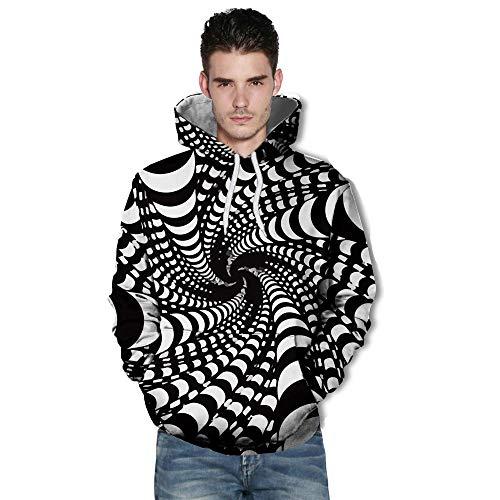➤Spätestens Bekleidung Oberteile, Loveso Freizeit Sport Unisex Blumen Zebra Streifen 3D Druck Hoodie Kapuzenpullover Langarm Sweatshirt Kapuzenjacke mit Taschen S-3XL -