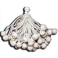 KMH®, 50 x Bola Pulpos Lona Bungie Cord para Marquesinas, cenadores, carpas para fiestas (#303025)