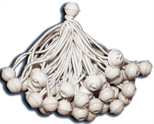 KMH®, 50 Zeltgummis mit Kugel - ideal für Partyzelte (#303025)
