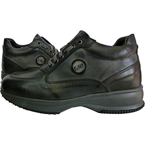 Exton pelle scarpe uomo 1039 - Sneaker Crust Sasso M0044 0 0001, made in italy, Grigio (42)