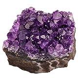 Rockcloud Naturel Améthyste Citrine Cristal à quartz Cluster Geode Druzy Pierre précieuse de décoration de la maison Specimen Sphère figurine