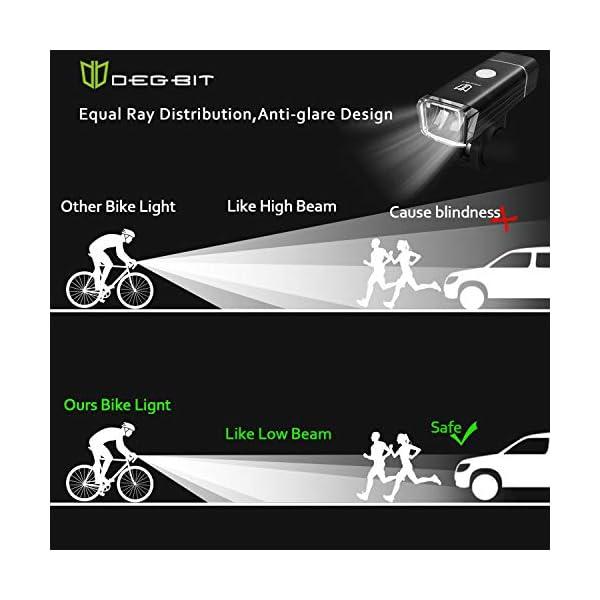 Update Degbit Bike Light Set, USB Rechargeable Bicycle Light Mountain Bike Light