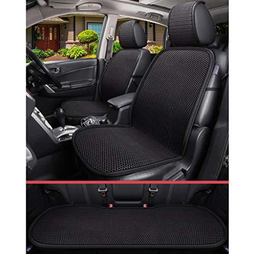 zyy Eisseide Gitter Autositzüberzug Polster Atmungsaktiv Kühlung Massage Vorderseite Und Rückseite Gebraucht 3 Stück Zum Auto 5 Plätze (Color : A)