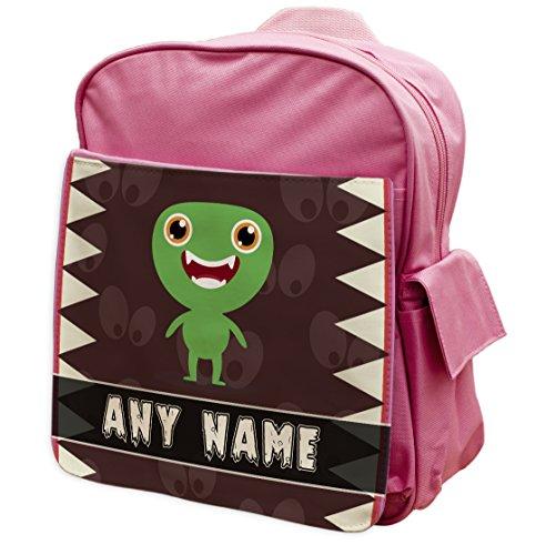 Pink personalisierbar Scary Monsters Rucksack 164