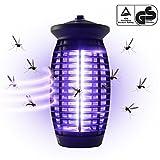 Yorbay H03 Insektenvernichter mit UV-Licht, GS Geprüft, 6W für Mücken, Schwarz, 15 x 15 x 32 cm