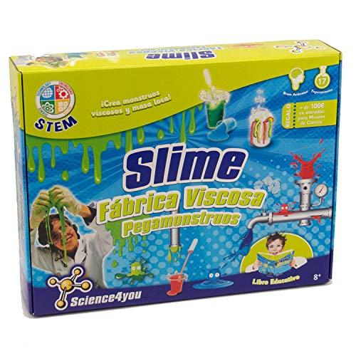 Science4you Fábrica de los pegamonstruos - Slime - Juguete...