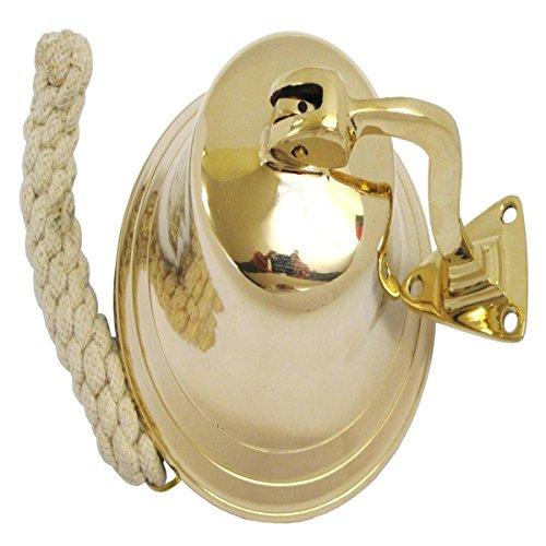 "7"" Full Brass Ship Bell With Bracket - Door Bell"