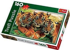 TREFL Ravensburger 15208 - Puzzle (160 piezas), diseño de tigres