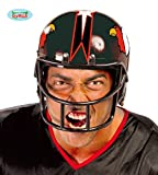 Guirca Football Helm für Erwachsene Karneval Fasching Party Quarterback Rot