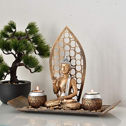 INtrenDU® Cuenco Decorativo Oriental Figura Buda