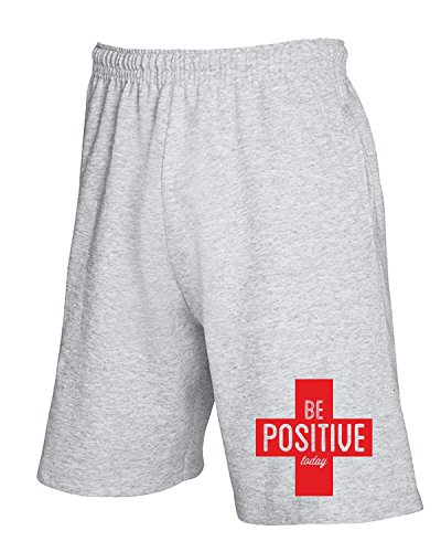 Cotton Island - Pantalone Tuta Corto CIT0047 Be Positive Today Grigio