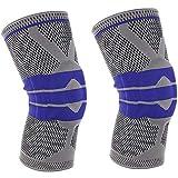 GGGGG Kniepolster, Silikonfederknit, der Basketballbergsteigen rüttelt und Knieärmel vermeidet,3,XLarge