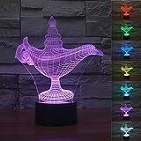 LED Nachtlicht Magical 3D aladins lampe Visualisierung Amazing Optische Täuschung Touch Control Light 7 Farben ändern für Kinderzimmer Home Decoration Best Geschenk