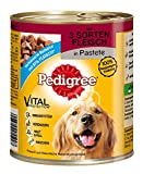 Pedigree Hundefutter 3 Sorten Fleisch in Pastete, 800 g