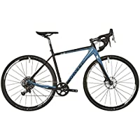 VOTEC Cyclocrosser VRX Comp Gravel-Bike – Offroad Rennrad | 28 Zoll Carbon Herren Cross-Fahrrad | Black-Petrol Blue |
