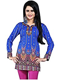 M.Tex Kurti For Women Round Neck Full Sleeves Crepe Wrap Kurta (Pack Of 1)