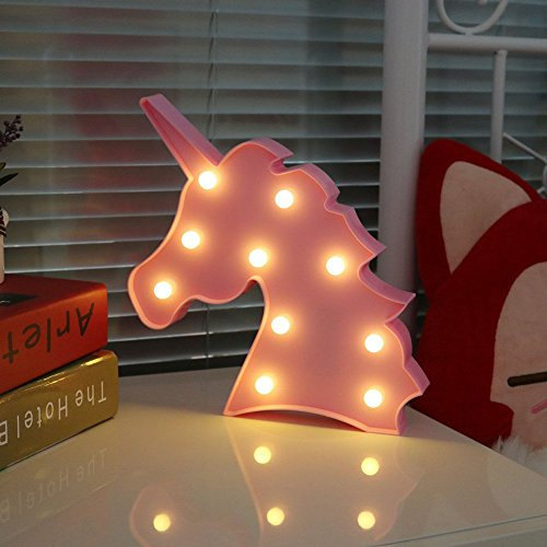 Unicornio Luces lámpara luz nocturna LED niños Marquee
