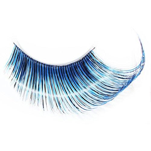 Lash & Co - Faux cils en plumes - - Plume dégradé de bleu