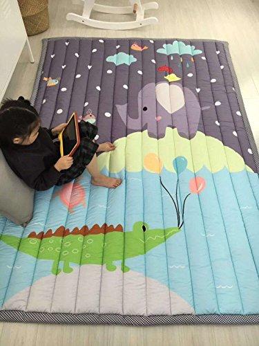 *Zinsale Große Verdicken Baby Krabbeldecken Baumwolle Spielmatte Kindergarten Aktivität Pad Krabbelmatte (Zoo)*