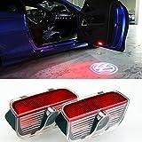 Inlink LED porte de voiture d'éclairage Haute Définition porte de voiture Logo projection de lumière pour VW Touareg CC Sharan Scirocco Magotan Sagitar Passat Tiguan (2PCS)