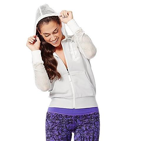 Zumba fitness sweat à capuche pour femme chaud spécial extérieur zumba u mm XS Gris - Gris fumé