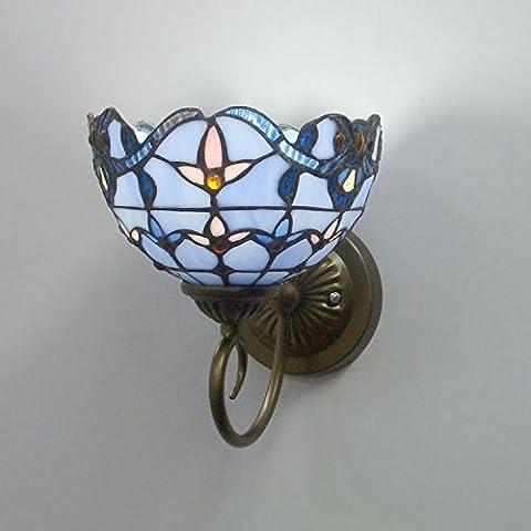 FAYM - L'Art Du Vitrail Miroir Mural Lampe Avant Lampe Murale Éclairage Moderne , Sans Source De Lumière