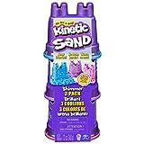 Kinetic Sand Confezione da 3 Mini Castelli, 340 G di Sabbia Modellabile in 3 Colori Brillanti, dai 3 Anni - 6053520