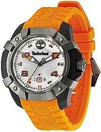 Timberland Chocorua Men s Quartz Watch with White Dial Analogue Display and  Orange Plastic Strap TBL. 6dac58b89d