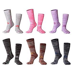 Fancylande Damen Herren Skisocken, Winter Warmer Socken Sport Skisocken, Ski & Snowboard Socken Outdoor Socke Zum Skifahren Skisocken
