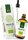 WoldoHealth pure moroccan argan oil 100% certified organic cold pressed treatment for hair skin beard body and nails