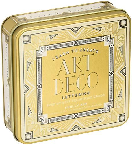Stylish Art Deco Lettering Tin Art-deco-rock