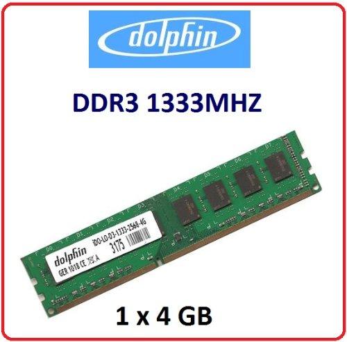 1333 Pc10600 Speicher (Dolphin 4GB 1x 4GB Pc Speicher Dimm Speicher Memory Ram 1333Mhz 1333 PC10600 10600 für verschiedene Desktop Anwendungen Gaming Spiele Computer 100% kompatibel zu 1066Mhz)
