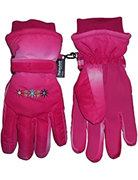 N 'ice Caps Niñas Thinsulate y impermeable Multi Color Tye Dye floral invierno guantes