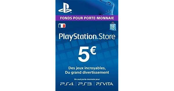 carte psn 5 euros Carte PSN 5 EUR | Code Playstation Store | PS4/PS3/PS Vita