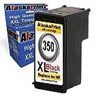 Alaskaprint ersatz für Hp 350 XL Druckerpatrone Schwarz mit HP Photosmart C5280 C4480 C4280 C4580 C4400 C4380 C4340, Deskjet D4260 D4360, Officejet J5785 1x Schwarz