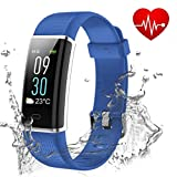 Showyoo Fitness Tracker, Color Screen Activity Tracker Heart Rate Monitor, IP68 Waterproof Sports