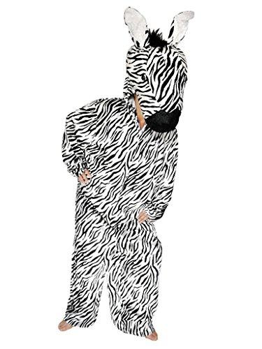 Zebra-Kostüm, Su18/00 Gr. M-L, Zebra-Faschingskostüme für Männer und -
