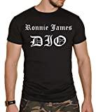 Ronnie James Dio Black Mens Heavy Metal Round Neck T-Shirt New
