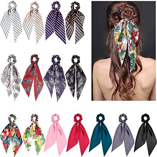 15 Stücke Haargummi Band Haargummi Elastische Haarbänder Pferdeschwanz Halter Glänzend Haarschmuck für Frauen Mädchen Kostüm