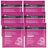 Neutrogena Illuminating Boost Hydrogel Maske - Hydrogel Maske mit Vitamin B3 für strahlend schöne Haut - 6 x 30ml